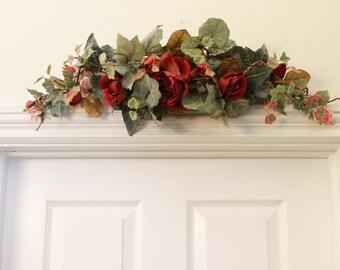 Silk Floral Festoon - Burgundy Rose (S17-81)