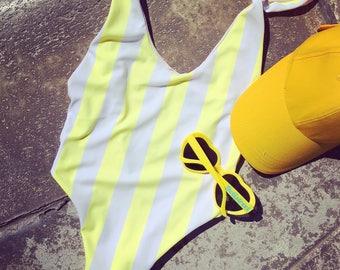 Yellow Striped Onesie!