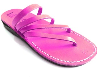 Leather Sandals, Leather Sandals Women, Sandals, Women's Shoes, RAINBOW, Flip Flops, Biblical Sandals, Jesus Sandals