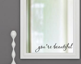 Bathroom Mirror You Look Fine you look fine vinyl wall decal sticker bathroom mirror