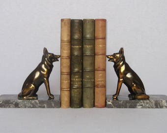Fabulous Pair of Vintage French Spelter Bookends, in superb condition
