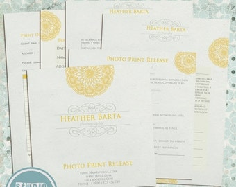 ON SALE Print Release for Photographers, Photography Form Templates - INSTANT Download