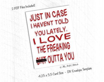 PRINTABLE Card, Valentines, Sassy Girlfriend, Boyfriend Birthday Card, I Love You Anniversary Card, Funny Spouse Cards