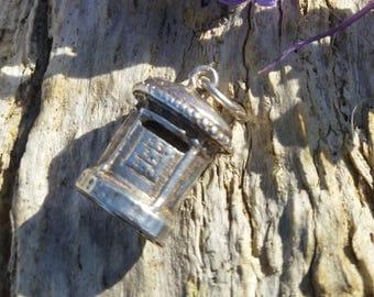 Sterling Silver Postbox Bracelet Charm