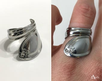 Handcrafted Upcycled Spoon Ring - Approx. Size 6