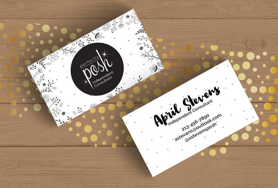 perfectly posh business card layered psd template black and white floral editable card pdf. Black Bedroom Furniture Sets. Home Design Ideas