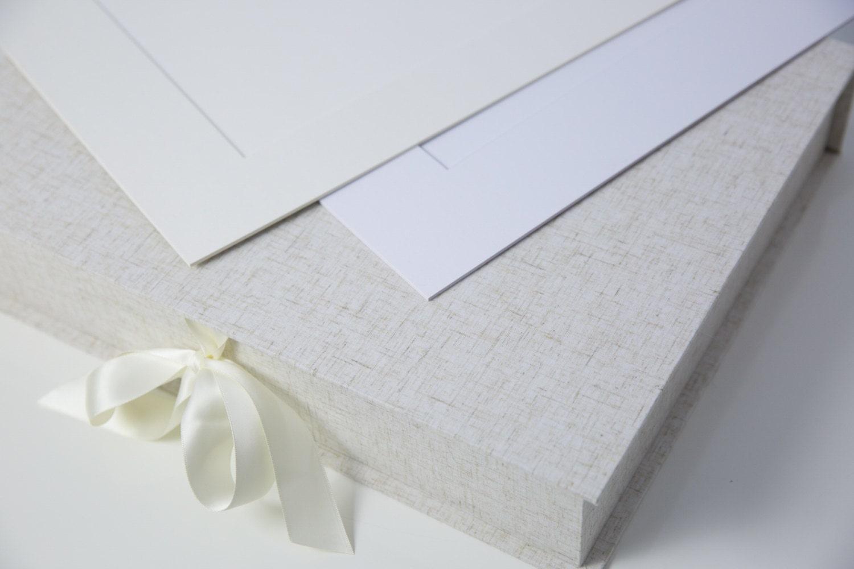Ivory Bundle 11x14 Luxury Folio Box With 20 Acid Free