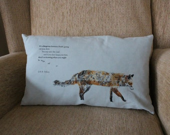 Screen Printed Fox Cushion