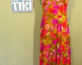 Vintage Hawaiian Dress, Size Small