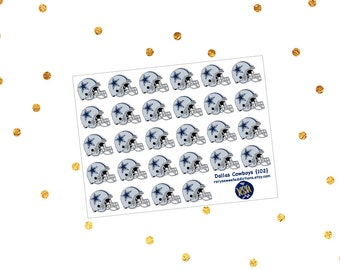Dallas Cowboys Football Helmet Stickers {102}