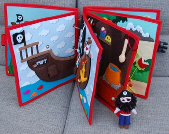 Pirate book - Complete quiet book PATTERN & TUTORIAL