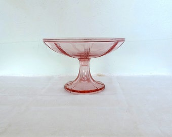 Vintage French bonbonnier, bonbon dish, candy bowl, footed sweet stand, Art Deco, glass interior bowl, vintage french home decor