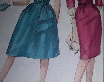 Vintage Simplicity 4230 Sewing Pattern Size 12 One-Piece Dress with Two Skirts