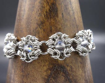 Opalescent Stainless Steel Romanov Chainamille Bracelet