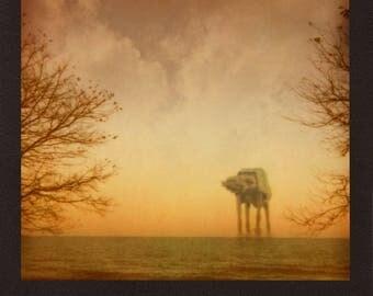 Star Wars AT-AT Walker In Lake Michigan Polaroid Photograph Print Limited Edition