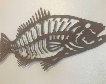 Large Metal Fish Salmon Wall Art Indoor/Outdoor