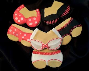 1 DOZEN Custom Lingerie Cookies