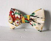 Dog bow tie >> Vintage wheels bow with elastic >> Pet gift