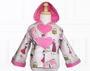 Coat Patterns, Jacket Patterns, Hoodie Patterns, Girls Sewing Patterns, Girls Jacket Patterns, Childrens Sewing Patterns, LOVE Hoodie
