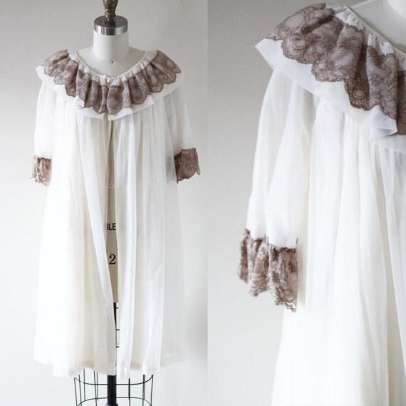 1960s sheer babydoll robe // 1960s robe // vintage robe