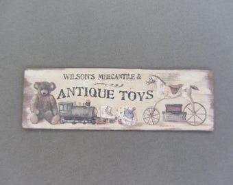 Old sign Antique Toys