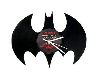 Vinyl clock batman