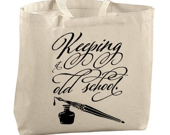 Cool Gifts for Her Calligraphy Pen Calligraphy Gifts Typography Art Typography Print Funny Tote Bags Graphic Designers Gifts Editor Gifts