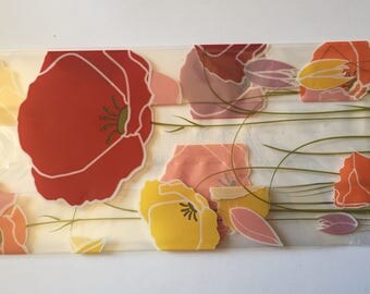 Pretty poppies pattern cello bags 10 pieces