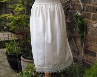 80s half slip St Michael silky size 16 vintage cream slip