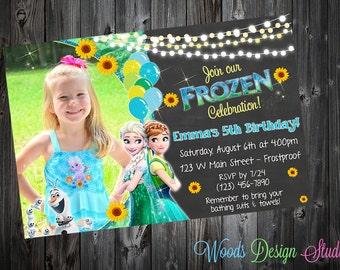 Custom Frozen Fever Birthday Party Invitations - DIY Printable File
