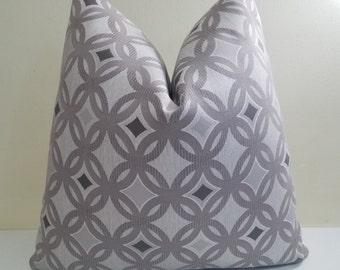 Taupe Gray Sunbrella Pillow cover -  Indoor/ Outdoor Sunbrella cushion - Deck Pillow