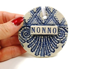 Nonno Ornament, Father's Day Gift, Grandparent Gift, Nonno Birthday, Italian Grandfather, New Grandfather, Nonno Christmas Ornament