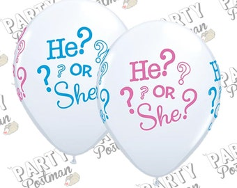 11 inch Gender Reveal Balloons