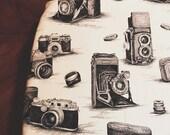 Changing Pad Cover, Camera, Black, White, Diaper, Baby Shower, Gift, Newborn, Gender Neutral, Boy, Girl