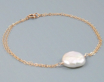 Freshwater Pearl Bracelet Wedding Gifts for Bride to Be Gift for Bridesmaids Gifts for Mothers Gifts for Sisters Gifts for Her
