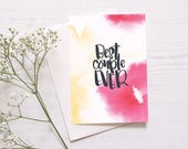 Wedding, Engagement Card: Best Couple Ever // Fun Engagement Card // Playful Wedding Card // Anniversary Card