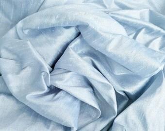 Dupioni silk, light blue