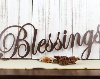 """Blessings Metal Wall Art 