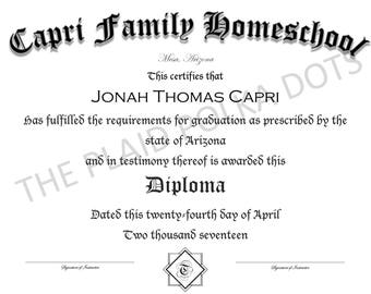 Homeschool High School Diploma