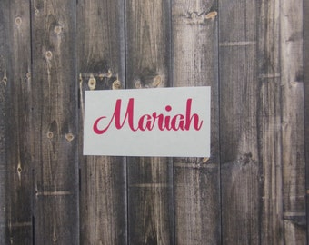 Custom Name decal, cup decal, car decal, laptop decal, coffee mug decal, wine glass decal, cell phone decal, vinyl sticker, ornament