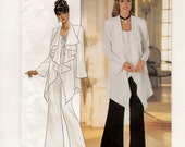 A Pullover, Long Sleeve, Draped & Shaped Hem Top and Elastic Waist Wide Leg Pants Pattern for Women: Uncut - Sizes 14-16-18 ~ Butterick 3192