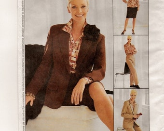 "A Classic Wardrobe Pattern for Women: Princess Seam Jacket, Shirt, Skirt & Pants - Uncut - Sizes 12-14-16, Bust 34"" - 38"" ~ McCall's 3407"