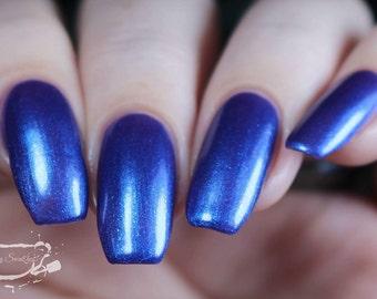 Purple/Blue Nail Polish, blurple Color Shifting - Good Morning, Glory  - Multichrome Nail Polish