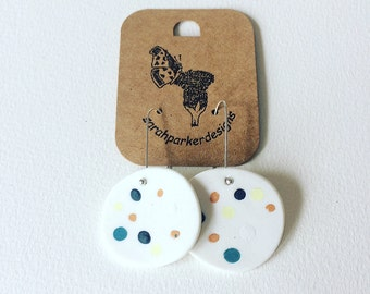 Speckled egg earrings