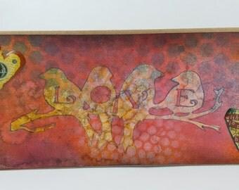 Greeting cards, Handmade, Cards, Art, Handmade Greeting Card , love, valentine card, love birds