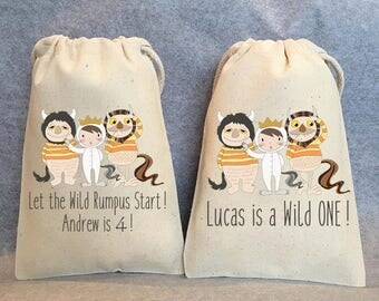 "15- Where the Wild Things are, Where the Wild Things are party, Where the Wild Things are birthday,Where the Wild Things are favor bag,5""x8"""