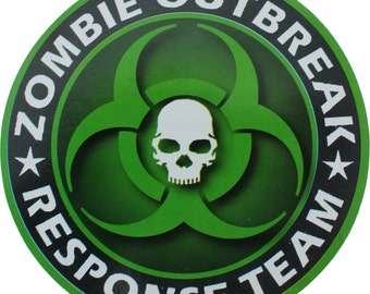 "Green Zombie Outbreak Response Team Sticker 5"" x 5"""