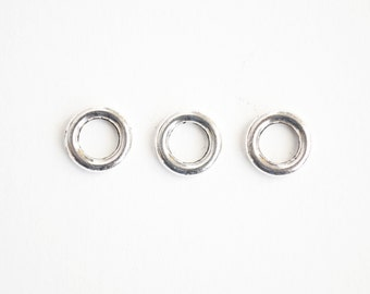 Silver Closed Rings - 10 pieces (157SA)