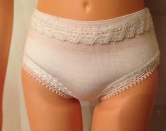 """White undies panties for Slim 18"""" BFC Ink Dolls"""