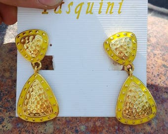 Vintage pasuini clip on earrings.